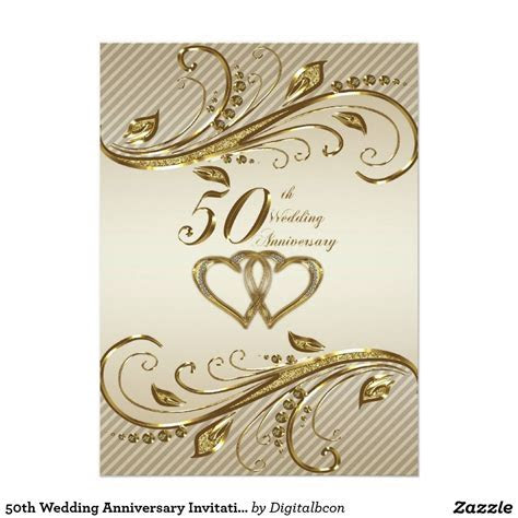50th Wedding Anniversary Invitation Card   Cards