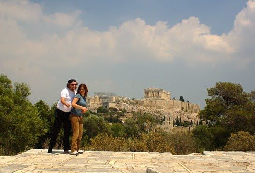 me and Si, near the Akropolis