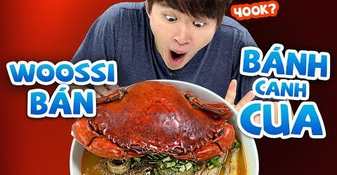 WOOSSI BÁN BÁNH CANH CUA 400K? | CUA DÌ BA FEAT BÁNH CANH WOOSSI NẤU | WOOSSI IN THE KITCHEN