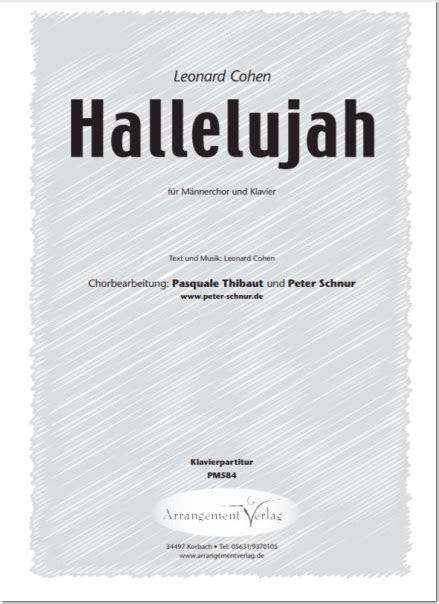 Hallelujah Hochzeit Text