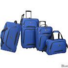 U.S. Traveler Vineyard 4-Piece Softside Luggage Set - Blue