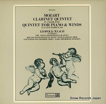 WLACH, LEOPOLD mozart; clarinet quintet in a major, k.581
