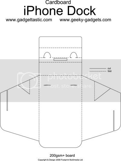 Cardboard iPhone Dock