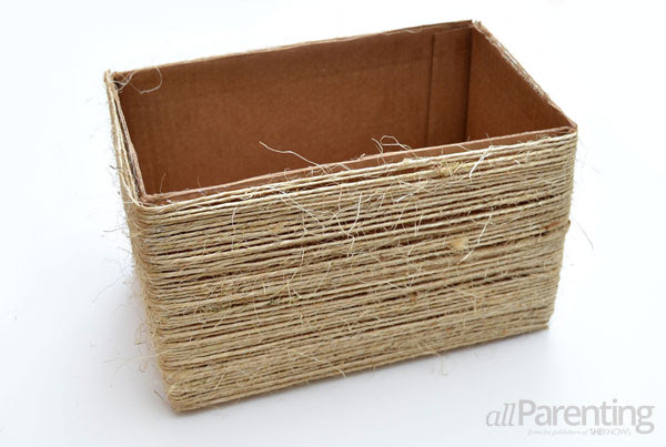 allParenting twine-wrapped storage boxes step 4