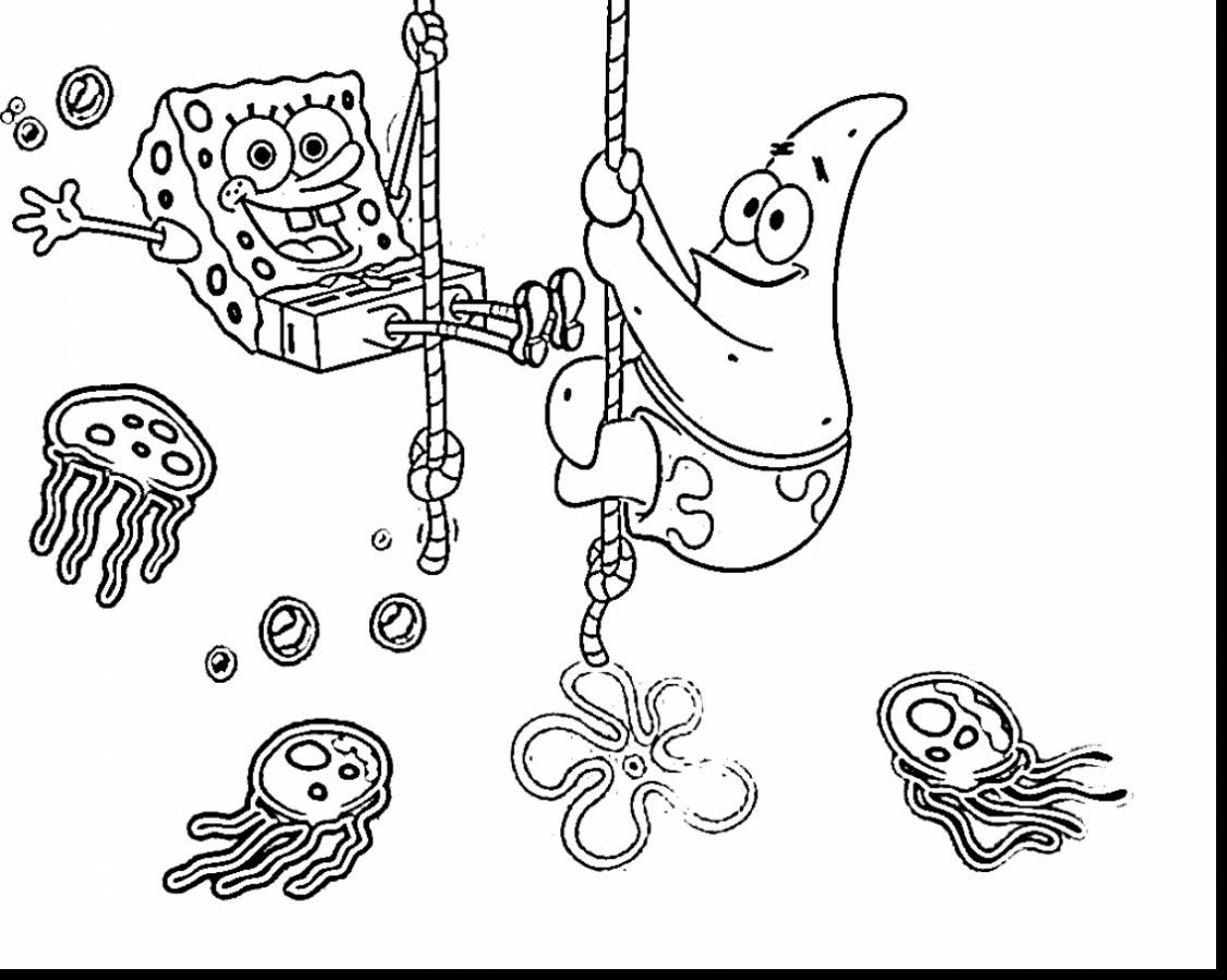 Spongebob Coloring Pages Games At Getdrawingscom Free For