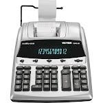 Victor 1240-3A Printing Calculator - 12 Digits - VFD - Black/Silver