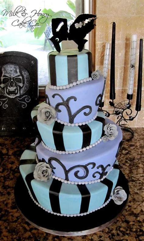 Halloween Wedding Cake Topsy Turvy Mad Hatter Tiers Bride