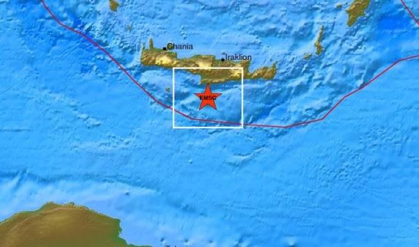 Νέος σεισμός ταρακούνησε την Κρήτη