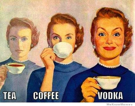 Tea vs coffee vs vodka