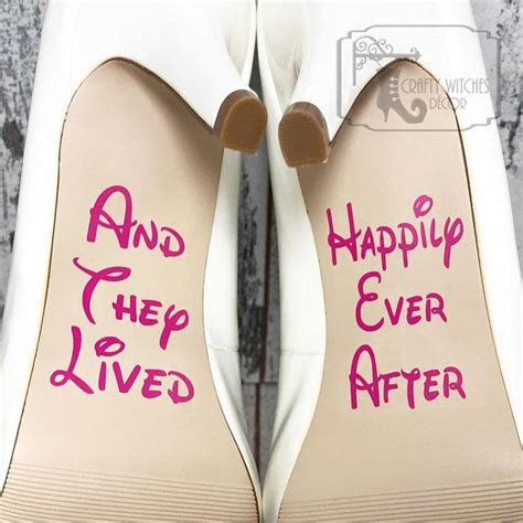 And They Lived Happily Ever After Wedding Shoe Decals