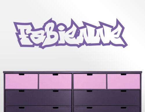 Name Graffiti Schrift Hiphop Jugendzimmer Kinderzimmer Wandaufkleber Wandtattoo