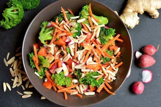 Asian Broccoli Salad (Vegan, Paleo, Whole30) - Wholesomelicious