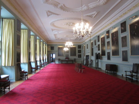 The Royal Collection carefully controls images of Holyrood Palace, but here are Jacob de Wet's paintings in situ, courtesy of Susan Abernethy.