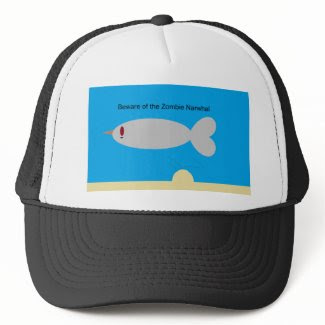 Beware of the Zombie Narwhal hat