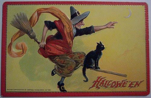 Старовинные открытки к Хэллоуину (Retro Halloween Postcards) НП-Белл до 31