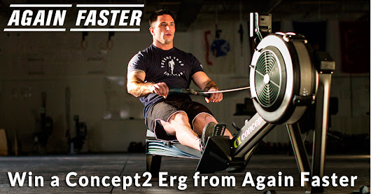 Enter for a chance to win a Concept2 Erg from Again Faster Equipment.