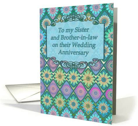 Wedding Anniversary card for Sister and Brother in law