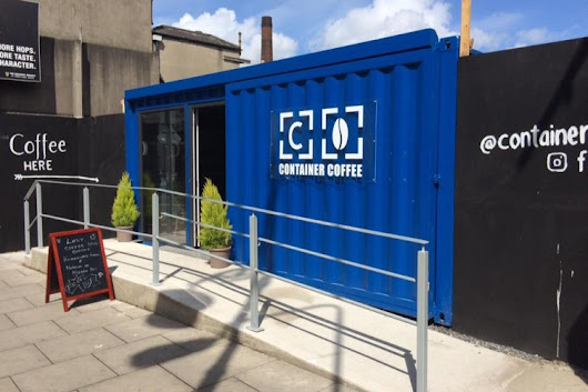 Take a guided tour of... this coffee shop inside two freight containers