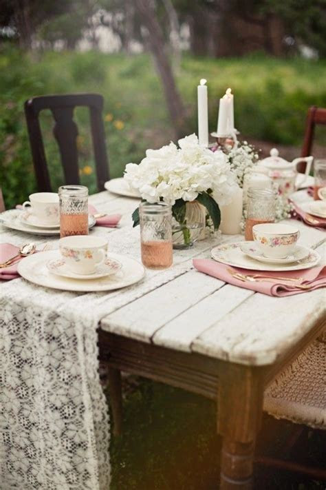 Top 15 Shabby Chic Wedding Table Setting Design ? Cheap