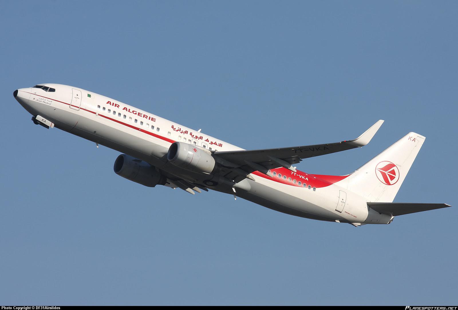 Air Algérie (AH) Boeing 737-800  (7T-VKA)