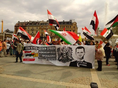 "Frankfurt, Germany: ""Hands Off Syria!""<br /> Via Antiimperialistische Aktion"