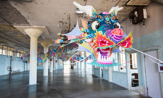 @Large: Ai Weiwei takes over Alcatraz with Lego carpets and a hippie dragon