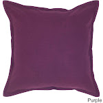 Rizzy Home 20-inch Solid Throw Pillow, Purple