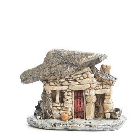 Micro Mini Resin Stone Cottage   Fairy Garden Miniatures