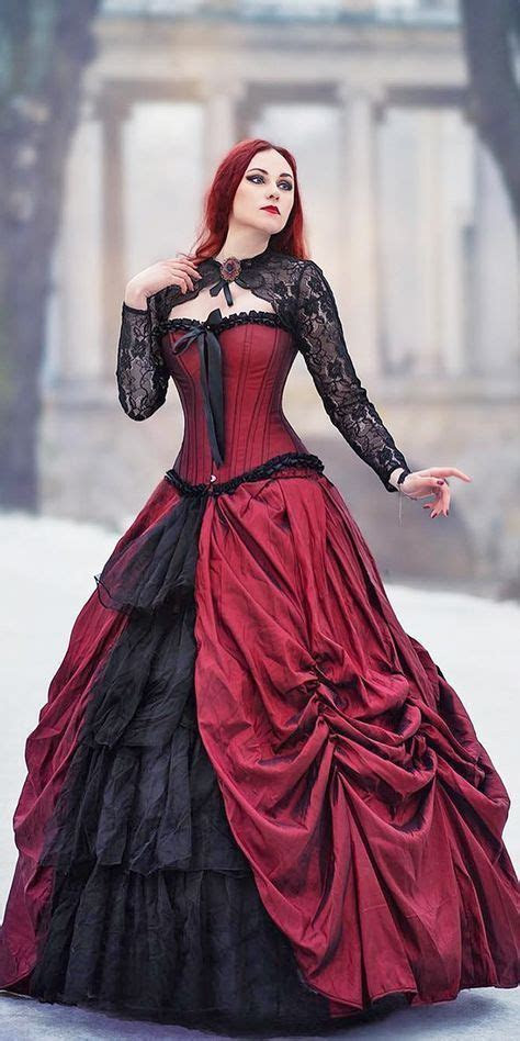 Gothic Ball Gown Victorian Wedding Dresses Black and