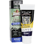 My Magic Mud Activated Charcoal FluorideFree Whitening Toothpaste Peppermint 4 oz.