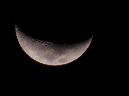 Lua Crescente. Foto: Santiago Siqueira / www.santiago.pro.br