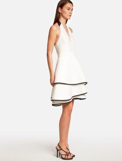 Silk Faille Halter Dress