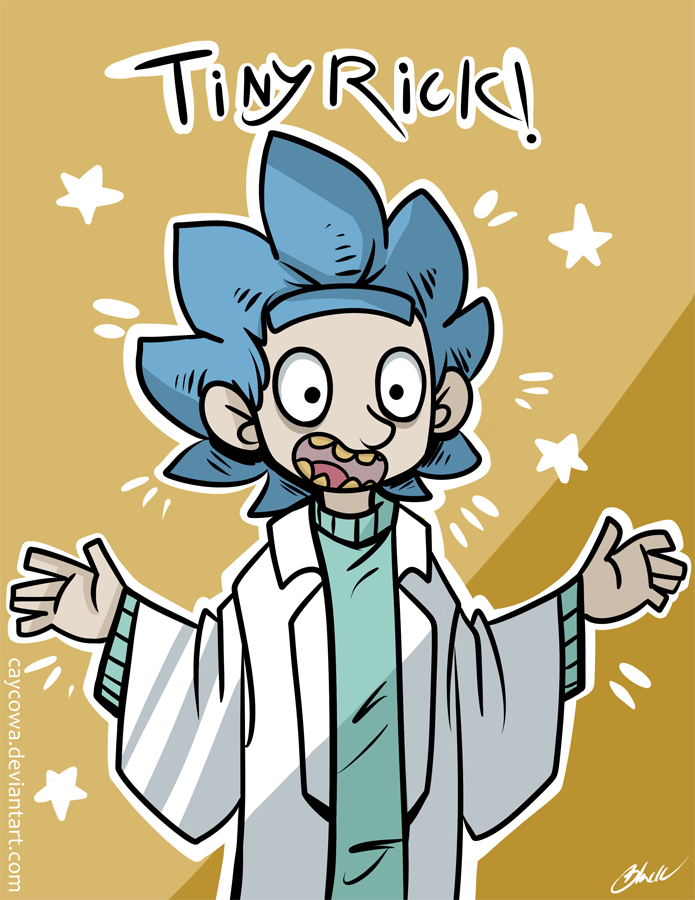 Rick And Morty Tiny Rick By Caycowa D9r5gcw Rick And Morty