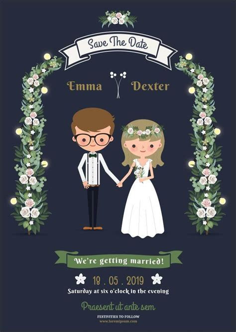 10 Super Adorable Cartoon Wedding Invitations For The Fun