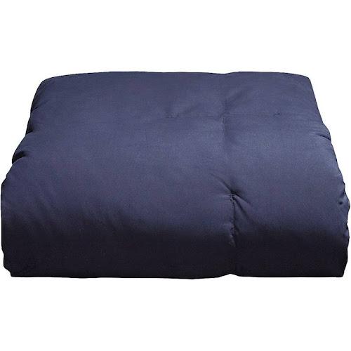 Blue Ridge Home Fashions Inc. Microfiber Down Alternative Comforter, Navy, Full/Queen