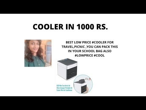 Mini cooler-Portable Air Mini Cooler Fan 3 in 1 Personal Space Conditioner, Humidifier and Purifier
