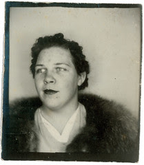 Photobooth woman and fur