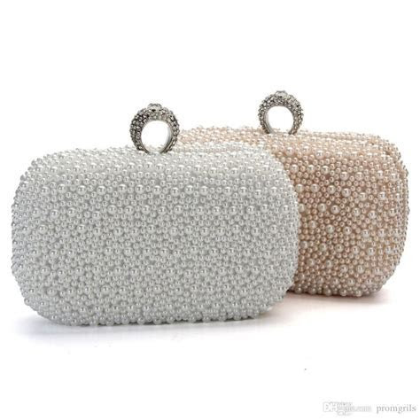 2018 Women Evening Clutch Bag Gorgeous Pearl Crystal