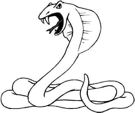 dangerous snake coloring pages  children