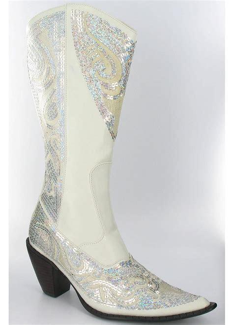 David's Bridal Wedding & Bridesmaid Shoes High Heel Cowboy