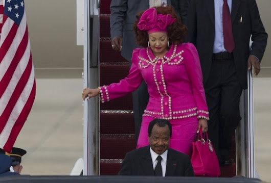 The first lady of Cameroon and her hair have touched down in D.C.