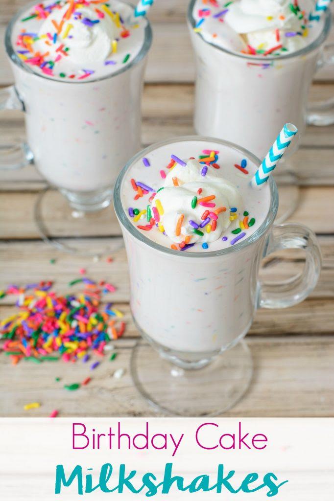 Birthday Cake Milkshake Recipe Freakshake Style Sweets