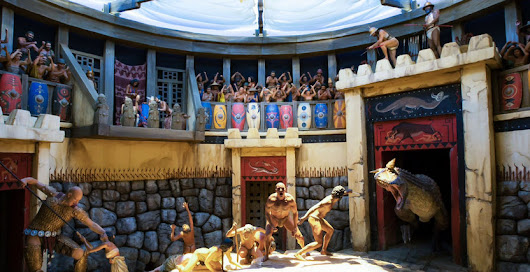 ROAR OF THE GLADISAURUS: New Creation Museum Display Shows Gladiators Fighting Dinosaurs And Giants - Joe.My.God.