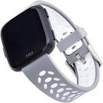 WITHit - Sport Band Watch Strap for Fitbit Versa & Versa Lite, Versa 2 - Gray/White