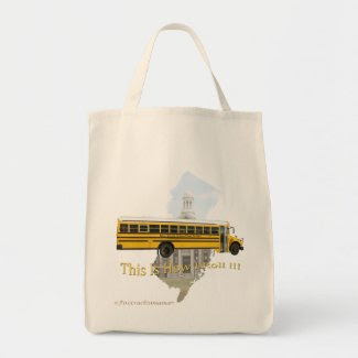 New Jersey School Bus Driver Tote Bag bag