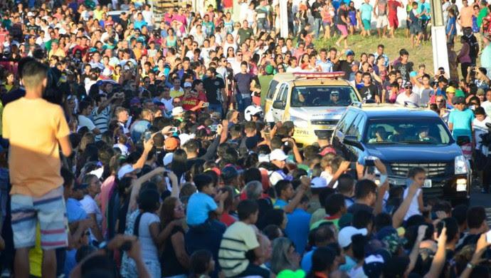 RN - velório Gil Chapecoense Nova Cruz (Foto: Andrea Tavares/GloboEsporte.com)