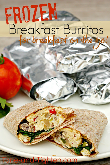 Frozen Healthy Breakfast Burritos Recipe