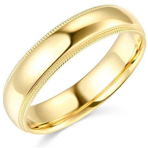 14K Yellow Gold 2mm 3mm 4mm 5mm 6mm Comfort Fit Men Women