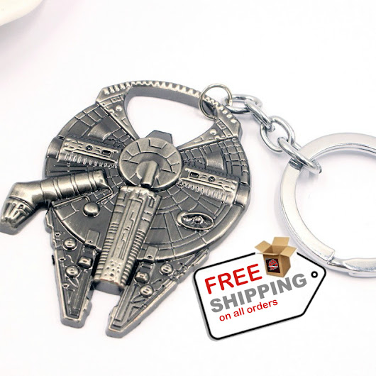 Star Wars Millennium Bottle Opener Falcon Metal Alloy Car Key Ring