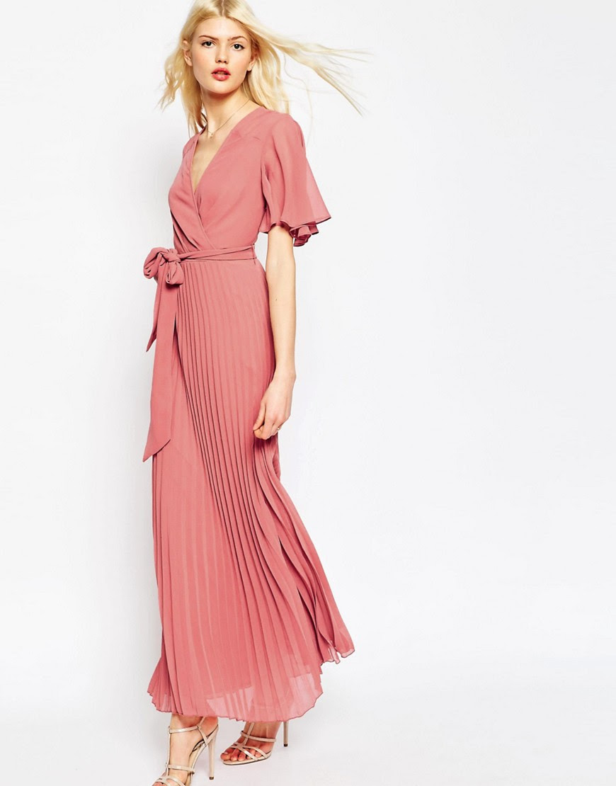 Image 1 of ASOS Pleated Maxi Dress